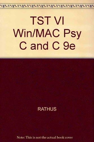 TST VI Win/MAC Psy C and C 9e (053446291X) by RATHUS