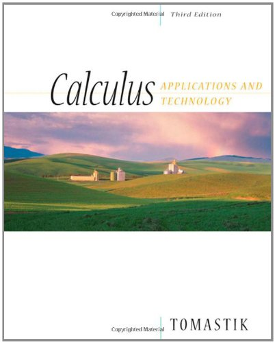 9780534464967: Calculus: Applications and Technology (with CD-ROM) (Available Titles CengageNOW)