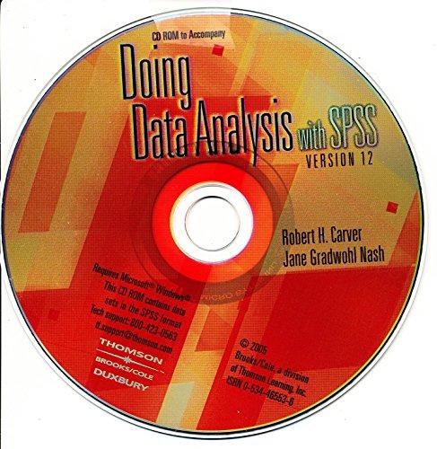 9780534465537: CD-Do Data Analysis SPSS 12.0