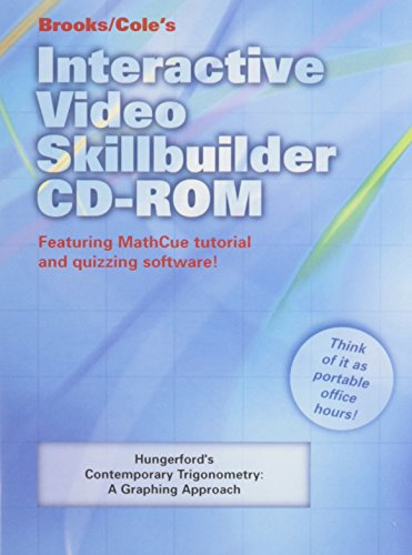 9780534466435: Interactive Video Skillbuilder CD-ROM for Hungerford's Contemporary Trigonometry: A Graphing Approach