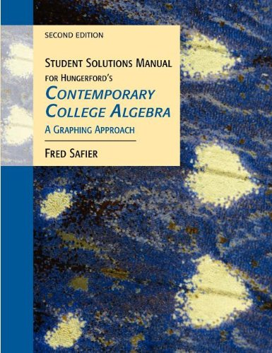 Contemporary College Algebra: Thomas Hungerford
