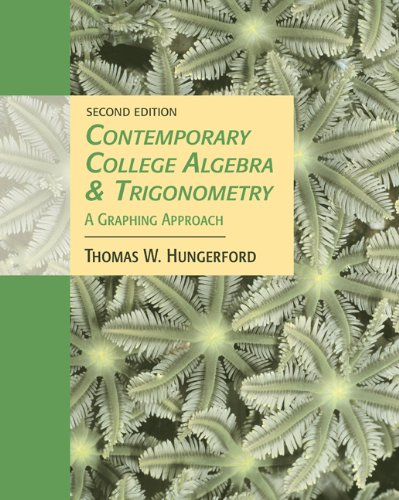 9780534466657: Contemporary College Algebra and Trigonometry: A Graphing Approach (with CD-ROM and iLrn Tutorial)