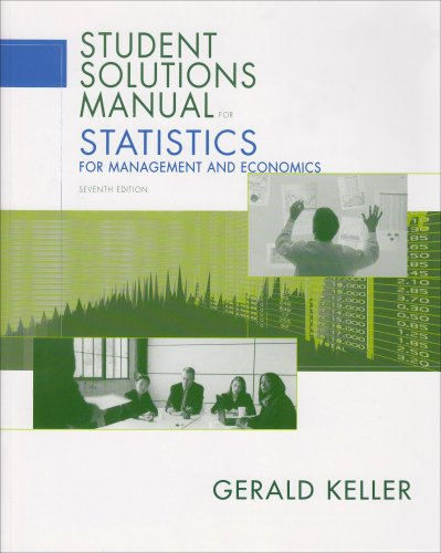 9780534491307: Statistics for Management and Economics ( student solutions manual)