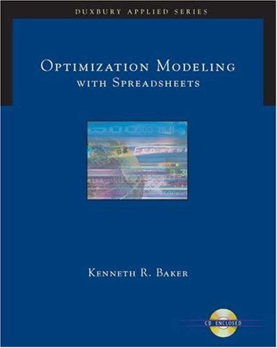 9780534494742: Optimizing Modeling with Spreadsheets (Duxbury Applied Series)