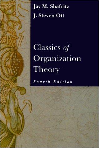 9780534504175: Classics of Organization Theory