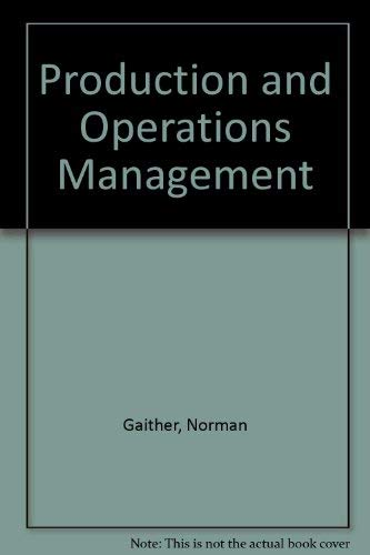9780534510008: Production and Operations Management