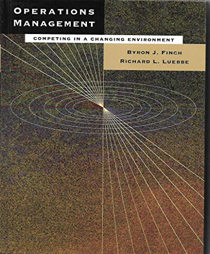 9780534510121: Operations Management: Competing in a Changing Environment