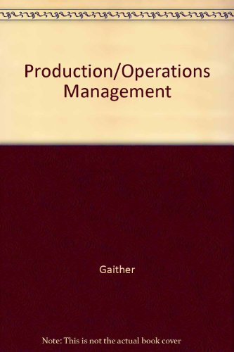 9780534510237: Production/Operations Management