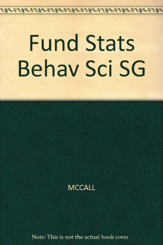 Fund Stats Behav Sci SG (0534511511) by MCCALL