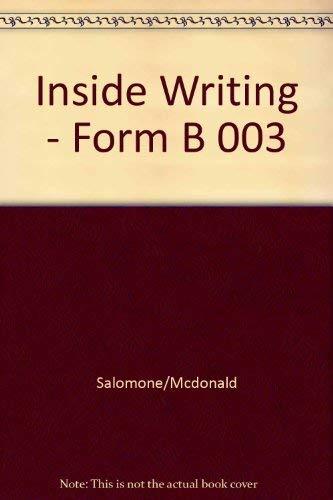 9780534513078: Inside Writing: A Writer's Workbook : Form B