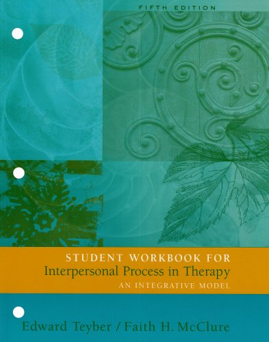 9780534515652: Interpersonal Process in therapy: 5th edition workbook