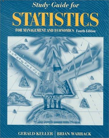 9780534515874: Study Guide for Keller/Warrack/Bartel's Statistics for Management and Economics