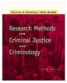 Research Methods for Criminal Justice and Criminology (Non-InfoTrac Version) (0534516688) by Michael G. Maxfield; Earl R. Babbie