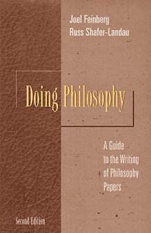 9780534516826: Doing Philosophy: A Guide to the Writing of Philosophy Papers