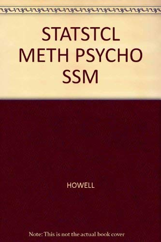 9780534519995: Student Solutions Manual for Howell's Statistical Methods for Psychology