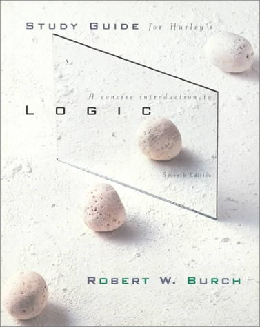9780534520083: Concise Introduction to Logic (Study Guide)