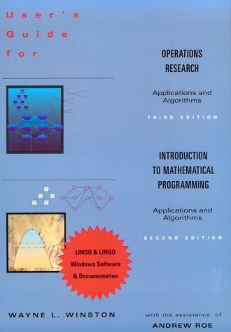 9780534520212: User's Guide to Operations Research / Introduction to Mathematical Programming