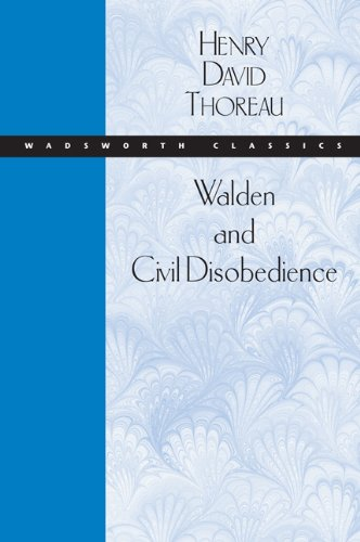 9780534522063: Walden and Civil Disobedience (Wadsworth Classics)