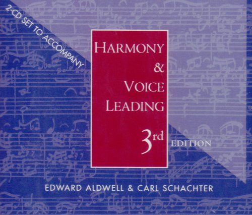 9780534522162: 2 CD Set for Aldwell/Schachter's Harmony and Voice Leading, 3rd