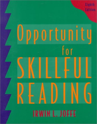 9780534523268: Opportunity for Skillful Reading