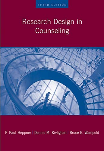 9780534523480: Research Design In Counseling