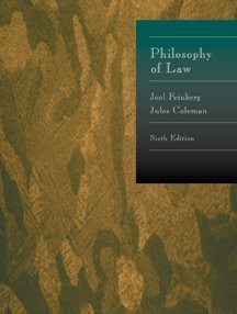 9780534524975: Philosophy of Law