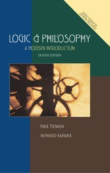 Logic and Philosophy (with LogicCoach III):  A Modern Introduction (0534526144) by Tidman, Paul; Kahane, Howard
