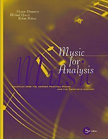 9780534529482: Music for Analysis: Examples from the Common Practice Period and the Twentieth Century