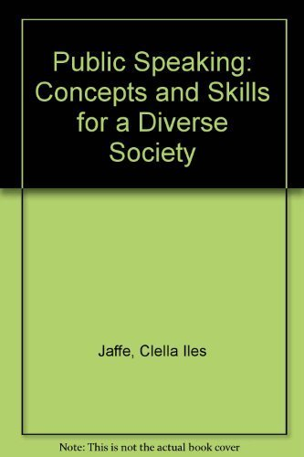 9780534529949: Public Speaking: Concepts and Skills for a Diverse Society