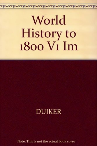 9780534531300: World History to 1800 V1 Im