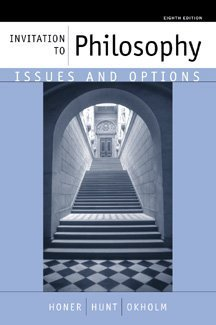 9780534533939: Invitation to Philosophy: Issues and Options