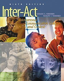 9780534535506: Inter-Act With Infotrac: Interpersonal Communication Concepts, Skills, and Contexts