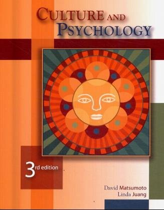 9780534535919: Culture and Psychology (with InfoTrac )