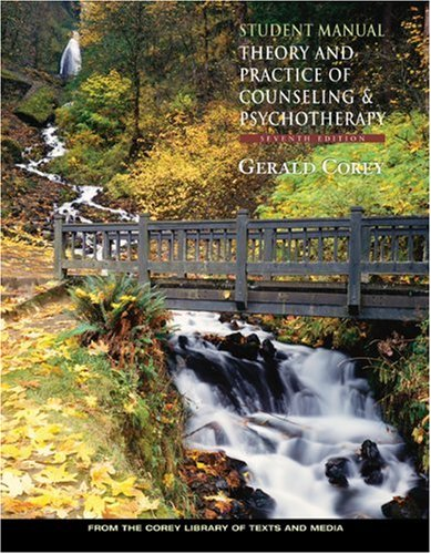 9780534536060: Student Manual for Corey's Theory and Practice of Counseling and Psychotherapy, 7th
