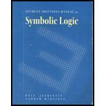 9780534537319: Student Solutions Manual for Symbolic Logic