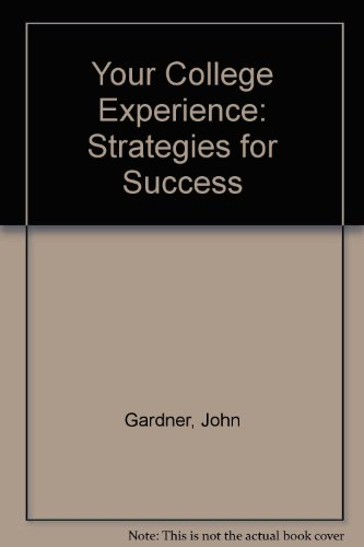 9780534537517: Your College Experience: Strategies for Success