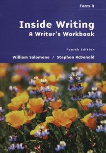 9780534547387: Inside Writing: A Writer's Workbook : Form A