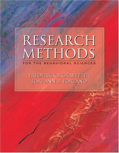 9780534549145: Research Methods for Behavioral Sciences