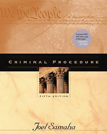 9780534550103: Criminal Procedure (with CD-ROM and InfoTrac)