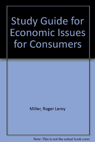 9780534552398: Study Guide for Economic Issues for Consumers