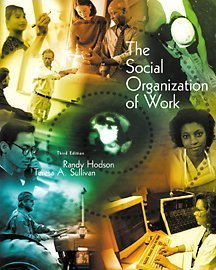 9780534552787: The Social Organization of Work