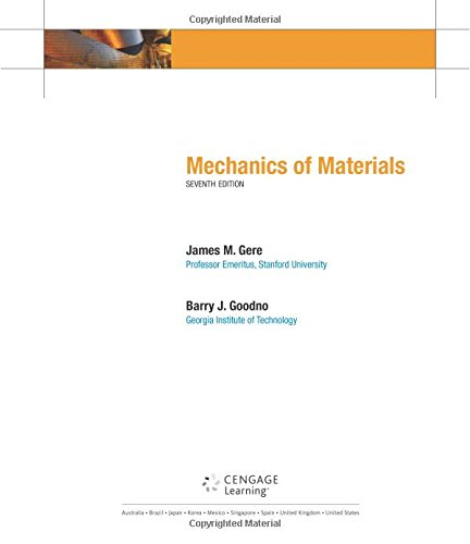 Mechanics of Materials (Available Titles CengageNOW): Gere, James M.;