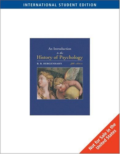 9780534554064: An Introduction to the History of Psychology [6th ed]