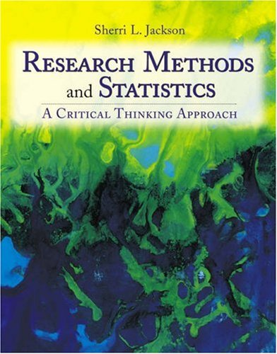 9780534554231: Research Methods and Statistics: A Critical Thinking Approach
