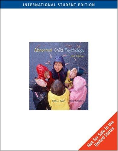9780534554354: Abnormal Child Psychology