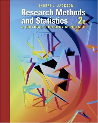 9780534556600: Research Methods and Statistics: A Critical Thinking Approach (Available Titles CengageNOW)