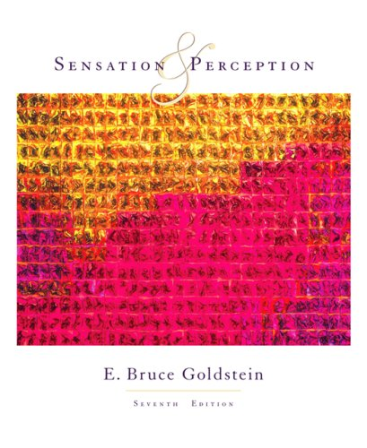 Sensation and Perception (Available Titles CengageNOW) (0534558100) by E. Bruce Goldstein