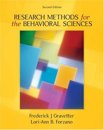 9780534558116: Research Methods for the Behavioral Sciences