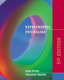 9780534560089: Experimental Psychology (with InfoTrac)