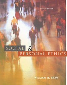 9780534561734: Social and Personal Ethics (High School/Retail Version)